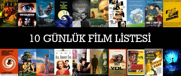 10 Günlük Film Listesi